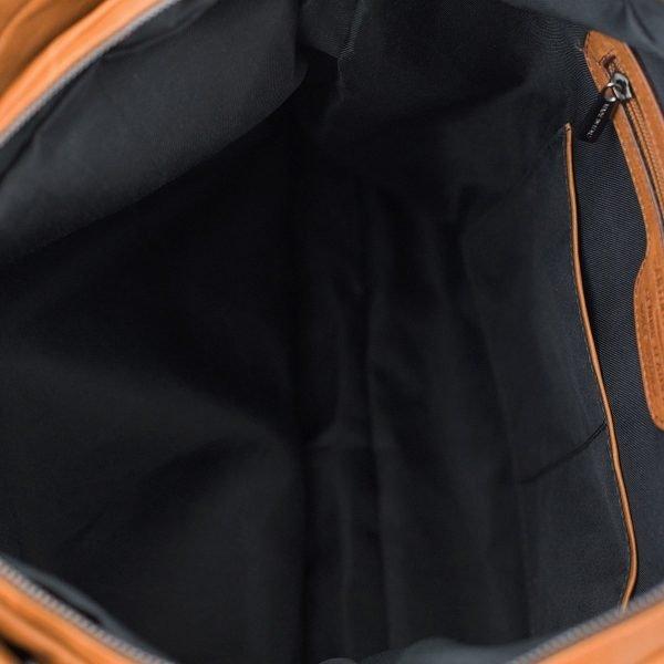 Cartella lavoro foto interno - cerniera interna borsa lavoro - compartimenti interni borsa lavoro