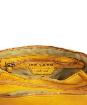 Borsa artigianale pelle - borsa genuine leather - borsa made in italy - borsa gialla