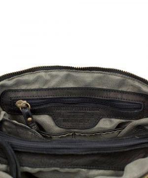 Borsa artigianale pelle - borsa genuine leather - borsa made in italy - borsa nera