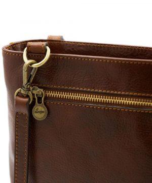 Borsa zip - borse con zip - borsa cerniera - borsa Fantini - borsa marrone