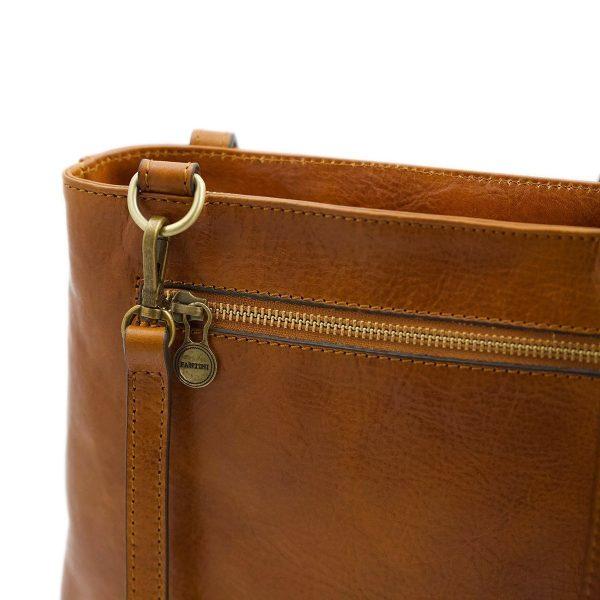 Borsa zip - borse con zip - borsa cerniera - borsa Fantini - borsa cuoio