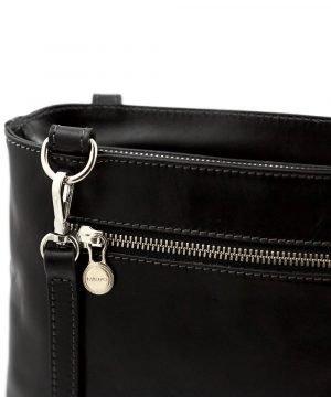 Borsa zip - borse con zip - borsa cerniera - borsa Fantini - borsa nera