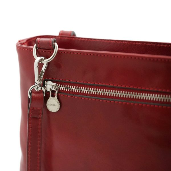 Borsa zip - borse con zip - borsa cerniera - borsa Fantini - borsa rossa