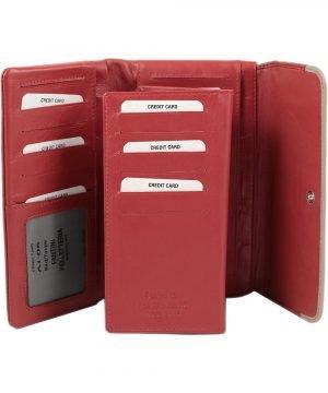 Portafoglio pelle donna - portafoglio carte di credito - portafoglio grande donna