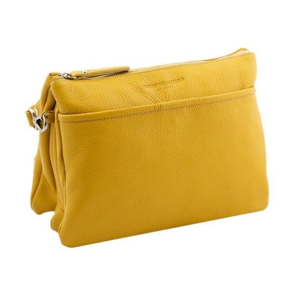 Borsetta gialla - Borsette gialle - borsa senape - pochette gialla
