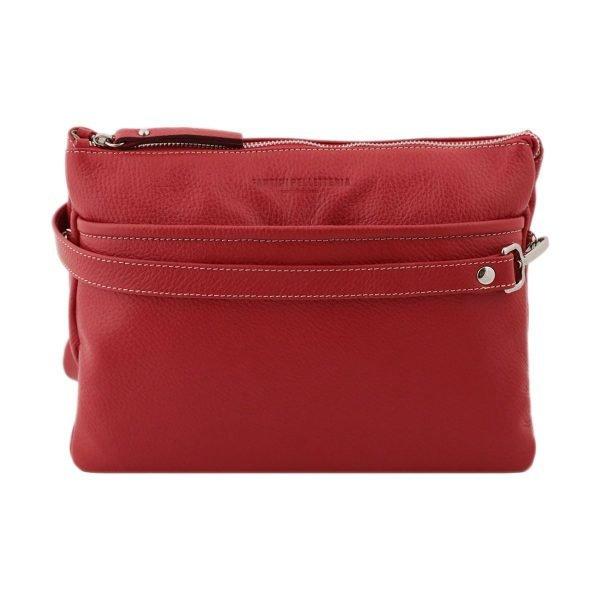 Borsetta rossa - Borse rosse tracolla - Borsette rosse - Borsa pelle rossa