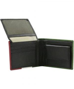 Portafoglio con portamonete - portafoglio uomo in pelle - portafoglio uomo slim