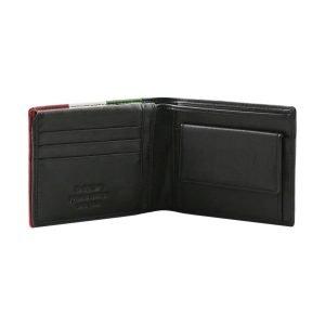 Portafoglio pelle - Portafoglio portamonete - portafoglio slim - portafoglio nero