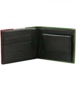 Portafoglio uomo pelle nera - portafogli maschili - portafoglio con portamonete