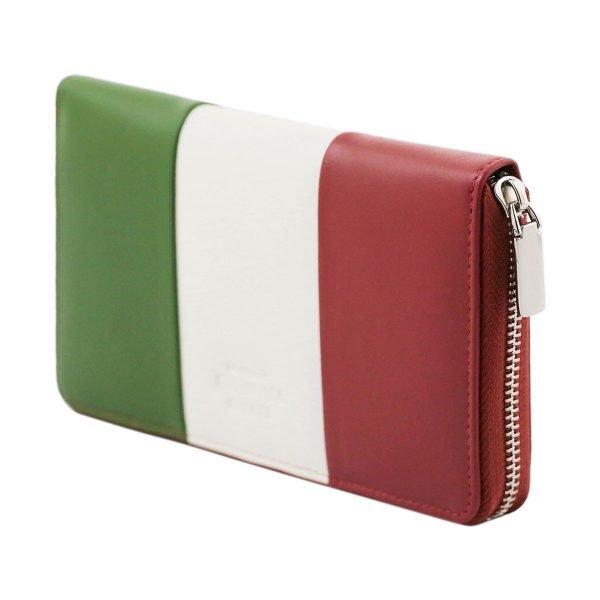 Portafoglio bandiera italiana - portafoglio italia - portafoglio italia pelle artigianale