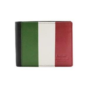 Portafoglio Italia - Portafoglio in pelle Italia - Portafoglio bandiera italiana - portafoglio Fantini Pelletteria