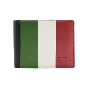 Portafoglio bandiera italiana - portafoglio italiano - portafogli Italia - Fantini Pelletteria