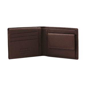 Portafoglio marrone - portafoglio artigianale - portafoglio con portamonete