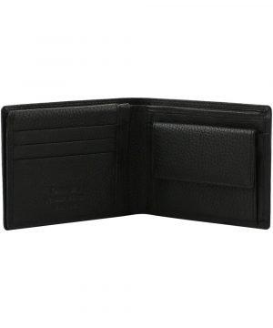 Portafoglio nero - portafoglio portamonete - portafoglio uomo