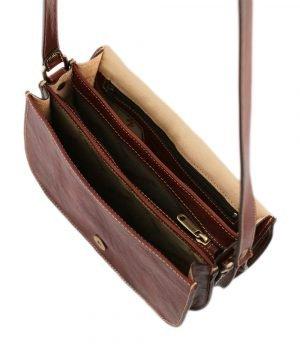 Borsa in vera pelle a tracolla - borsa in cuoio con tracolla - borsetta in pelle artigianale - borsetta vintage
