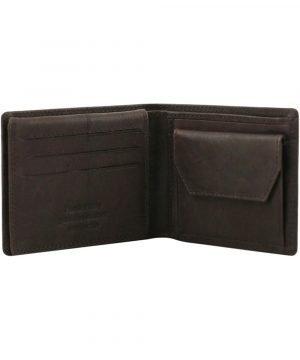Portafoglio uomo con portamonete - portafoglio pelle con portamonete