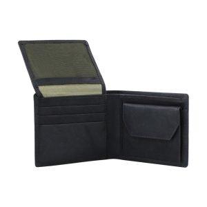 Portafoglio con portamonete - portafoglio in pelle blu - portafoglio uomo pelle
