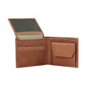 Portafoglio cuoio portamonete - portafoglio con portamonete - portafoglio in cuoio