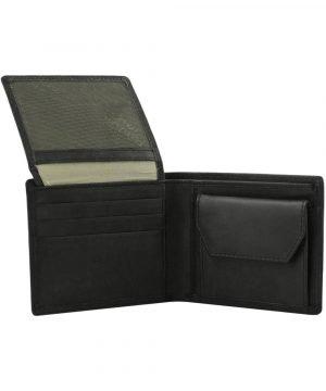 Portafoglio nero uomo - portamonete uomo - portafoglio con portamonete