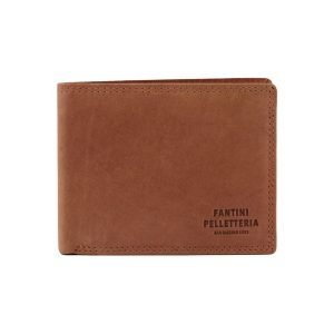 Portafoglio cuoio - portafoglio artigianale - portafoglio Fantini Pelletteria