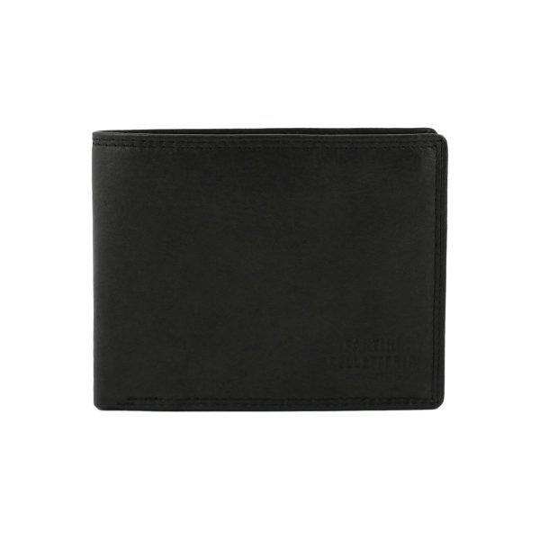 Portafoglio nero - portafoglio pelle uomo - portafoglio nero uomo