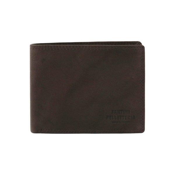 Portafoglio marrone pelle - portafoglio in pelle - portafoglio uomo cuoio