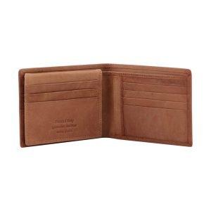 Portafoglio in cuoio - portafoglio senza portamonete - portafoglio in pelle