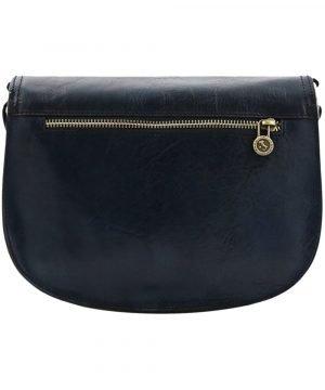 Borsa artigianale - borsetta blu - borsa in pelle scura - borsetta in cuoio