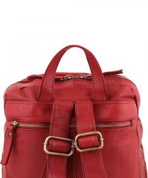 Zaino tasca posteriore - zaino tasca dietro - zaino tasca esterna - zainetto rosso cerniera