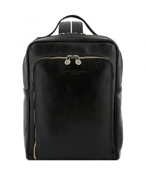 Zaino in Pelle Nero unisex comodo per il lavoro, per l'ufficio, per il laptop, per l'università, ma anche per il tempo libero. Questo zaino in pelle artigianale nero è al 100% Made in Italy.