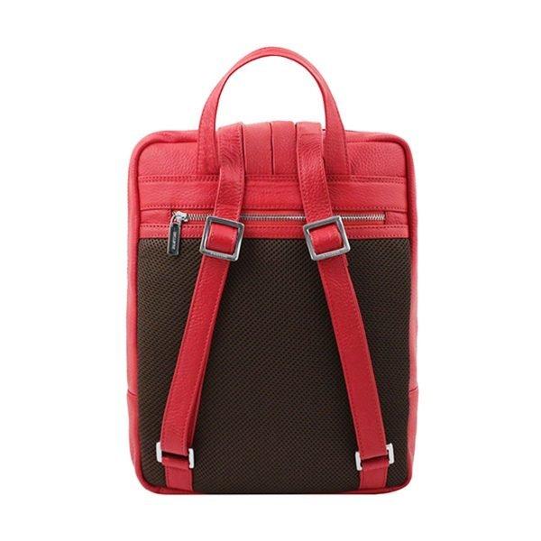 Zaino rosso in pelle artigianale e Made in Italy.