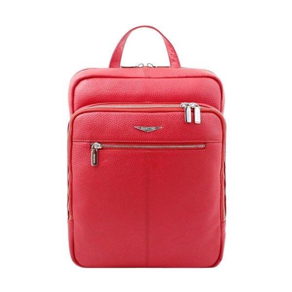 Zaino rosso Fantini in pelle artigianale e Made in Italy.