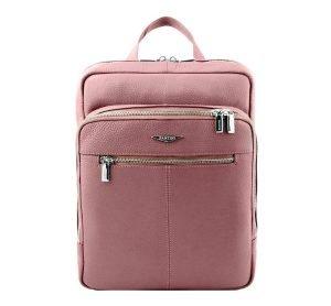 Zaino rosa da donna in pelle artigianale e Made in Italy.